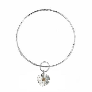 Twig Bangle with Large Flower Charm