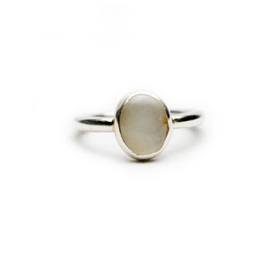 XL Oval Grey Moonstone Ring