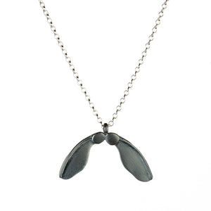 Large Double Oxidised Sycamore Necklace