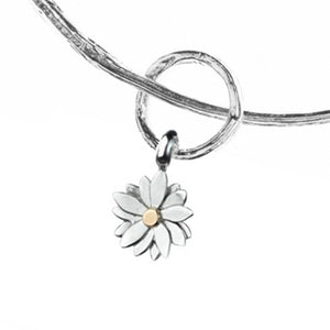 Twig Bangle with Small Flower Charm