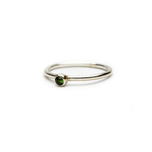 Small Green Tourmaline Ring