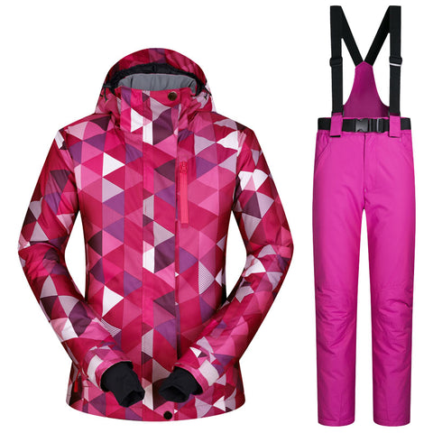 Female Windproof Ski Suit - mytravelsupply