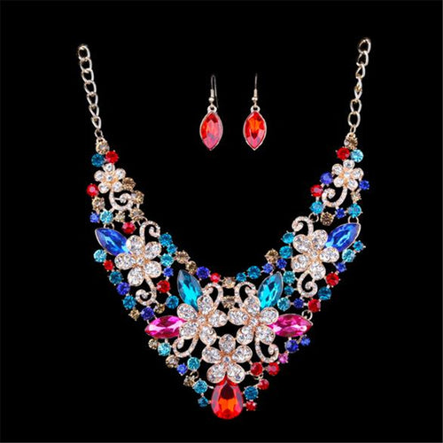 Multicolored Costume Jewelry with Earrings