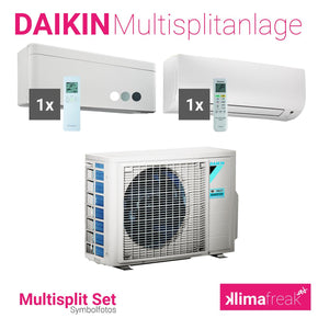 Daikin Multisplit Set R32 2MXM50M - Stylish 4,2 kW - Comfora 3,5 kW - Multisplitklimaanlage - klimafreak.at