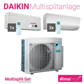 Daikin Multisplit Set R32 5MXM90N - Stylish 1x 5,0 kW - Perfera 3x 3,5 kW - Multisplitklimaanlage - klimafreak.at