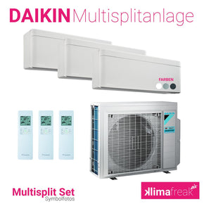 Daikin Multisplit Set R32 3MXM68N - Stylish 1x 4,2 kW + 2x 2,5 kW - Multisplitklimaanlage - klimafreak.at