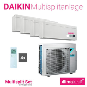 Daikin Multisplit Set R32 4MXM68N - Stylish 1x 4,2 kW + 3x 2,5 kW - Multisplitklimaanlage - klimafreak.at