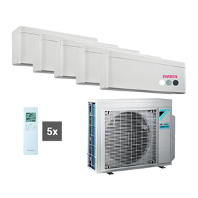Daikin Multisplit Set R32 5MXM90N - Stylish 1x 5,0 kW + 4x 2,5 kW