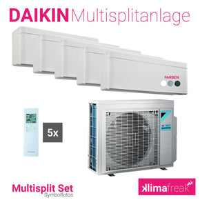 Daikin Multisplit Set R32 5MXM90N - Stylish 1x 5,0 kW + 4x 2,5 kW - Multisplitklimaanlage - klimafreak.at