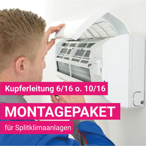 Montagepaket Splitklimanlage Kupferdimension 6-10mm/16mm