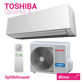 Toshiba Daiseikai 8 R410A 2,5 kW Set - Splitklimaanlage - klimafreak.at