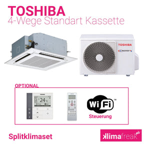 Toshiba 4-Wege Kassette R32 6,7 kW Set - Splitklimaanlage - klimafreak.at