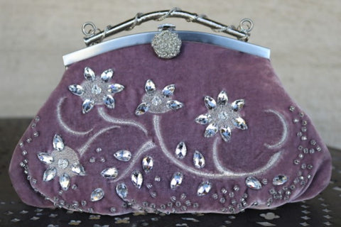 Crystal and Velvet Luxury Bags
