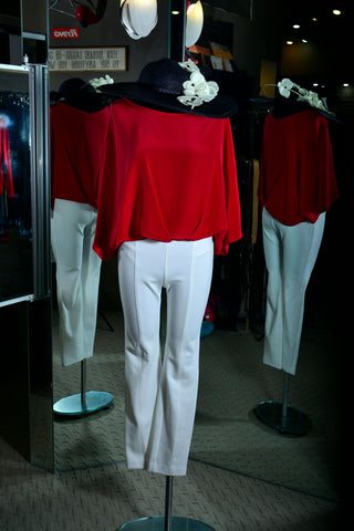 Aum-Couture Red Kiss Blouse