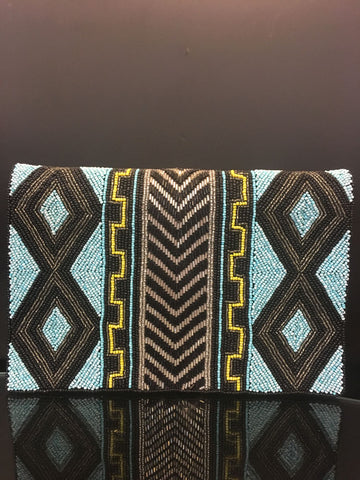 From St. Xavier Handmade Beaded Clutch