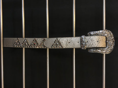 Smoke Leather Studded Belt