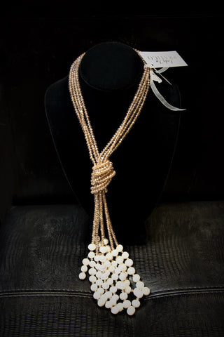 Four strand Pearl Necklace by Linda Lee, Luxury Fashion