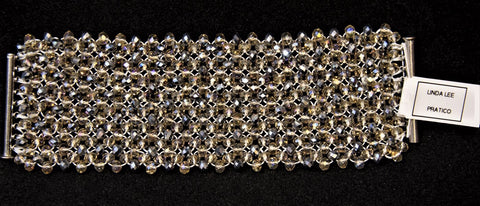Faceted Crystal Bracelet, Luxury Jewelry