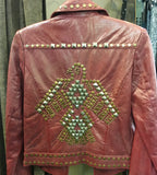 Double D Ranch - Studded Red Leather Jacket