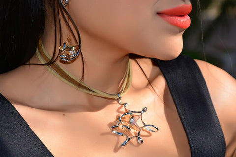 Monali Amber Star Earrings