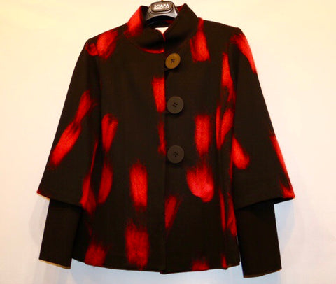 Scapa Jacket - Red Brush Strokes