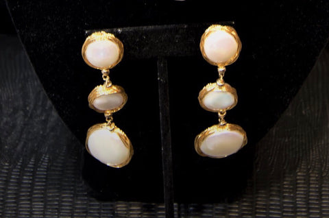 Linda Lee - Freshwater Coin Pearl Earrings