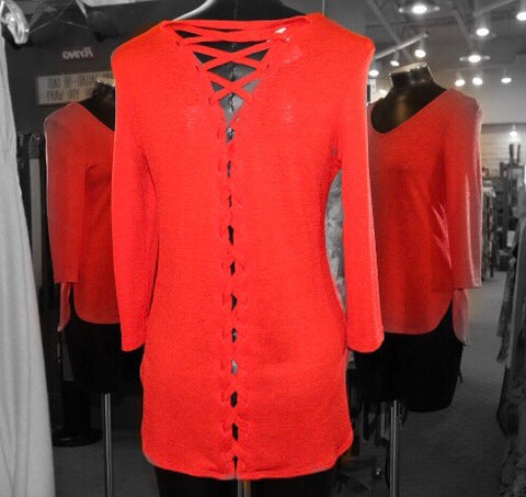 Frank Lyman Weekend - Orange Laced Top