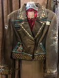 Double D Ranch- Brown Leather Jacket