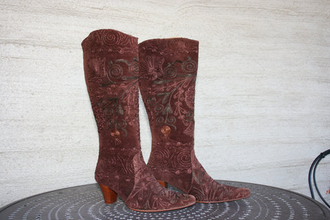 Maroon Cowgirl Boot