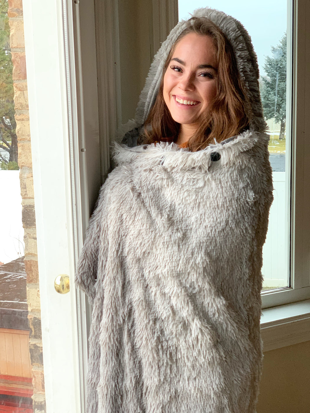 Hooded throw Gray Ombré (50 x 70)