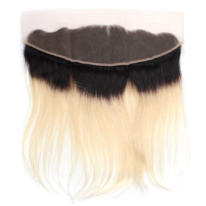 Blonde Ombre Straight Hair Frontal Crownposh
