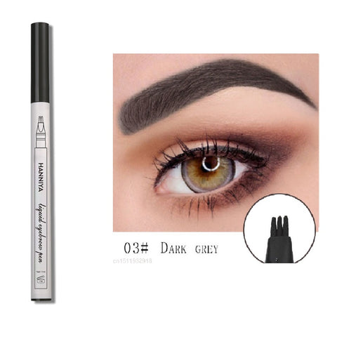 Eyebrow Pencil Eyebrow Tattoo Pen 4 Head Fine Sketch Liquid Henna