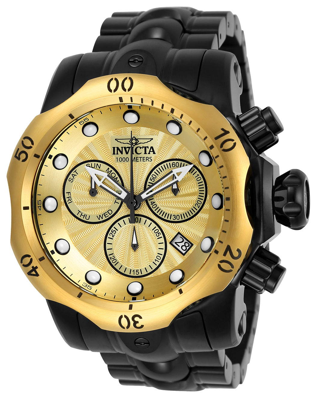 b1b8b7727 Invicta Men's 23896 Venom Quartz Chronograph Gold Dial Watch ...