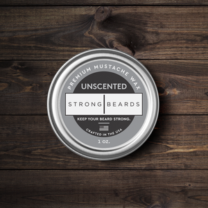 Strong|Beards Unscented Mustache Wax