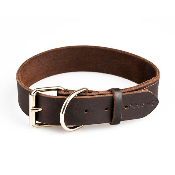 Natural Leather Collar - High Quality-Collar-Lucky Paws