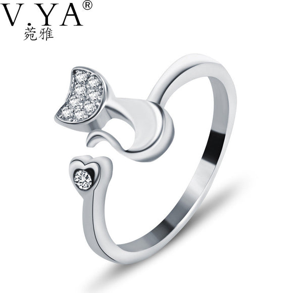 100% Real Sterling Silver Solid Silver Open Size Rings for Women