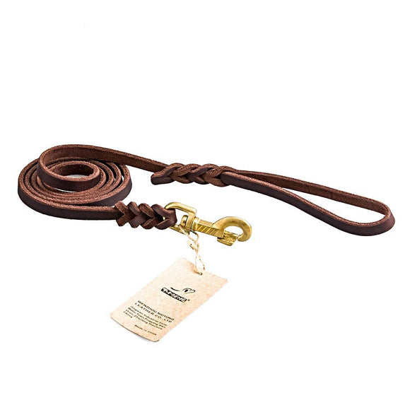 High Quality Braided Leather Leash - Luxury Lead for Pets-Leash-Lucky Paws