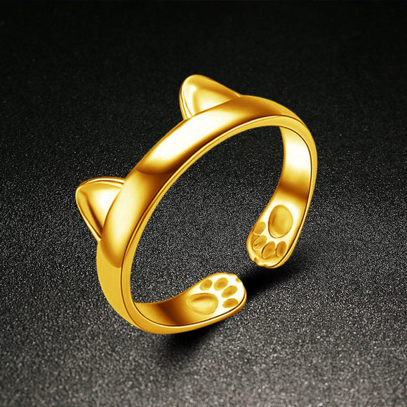 Adjustable Cat Ears Ring