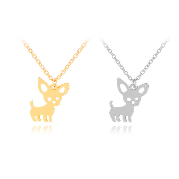 Dog Hollow Pet Paw Footprint Chain Necklace