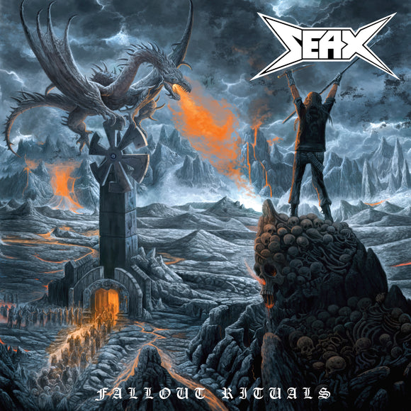 Seax - Fallout Rituals (ELECTRIC BLUE W/ WHITE SMOKE) (LP)