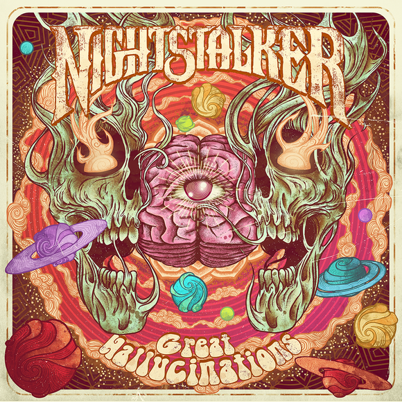 Nightstalker - Great Hallucinations (CLEAR PURPLE W/ BLACK/RED/BLUE SPLATTER) (LP)