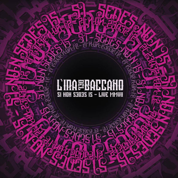 L'Ira del Baccano - Si Non Sedes Is - Live MVII (LP) (2LP) (PURPLE/GREEN BURST)