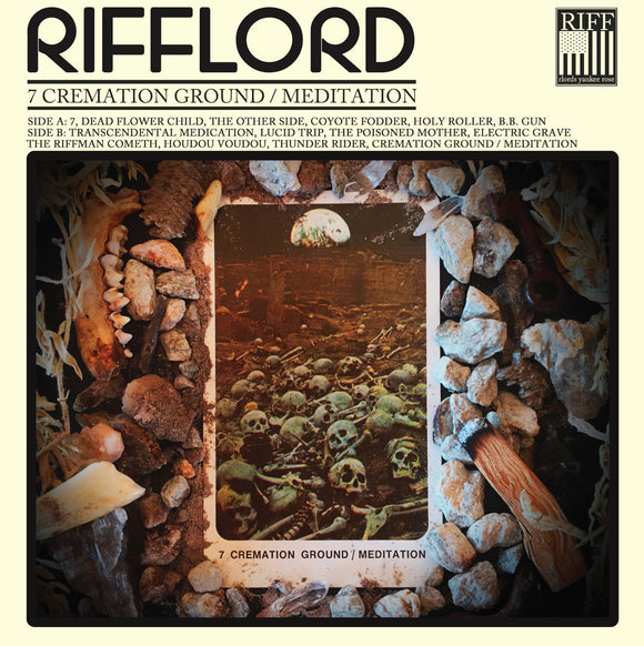 Rifflord - 7 Cremation Ground / Meditation (LP) (CLEAR W/ BEER / BLACK SPLATTER)