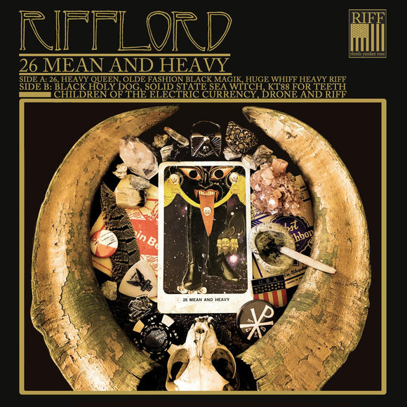 Rifflord - 26 Mean & Heavy (LP) (BLACK/GOLD PINWHEEL)