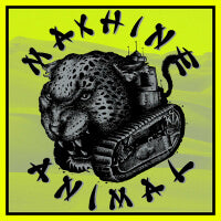 Machine Animal - Live in Wreck (Pink/Clear) (7 inch) Cover Art
