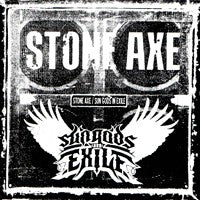 Stone Axe/Sun Gods in Exile - Split 7 inch (Black) (7 inch) Cover Art