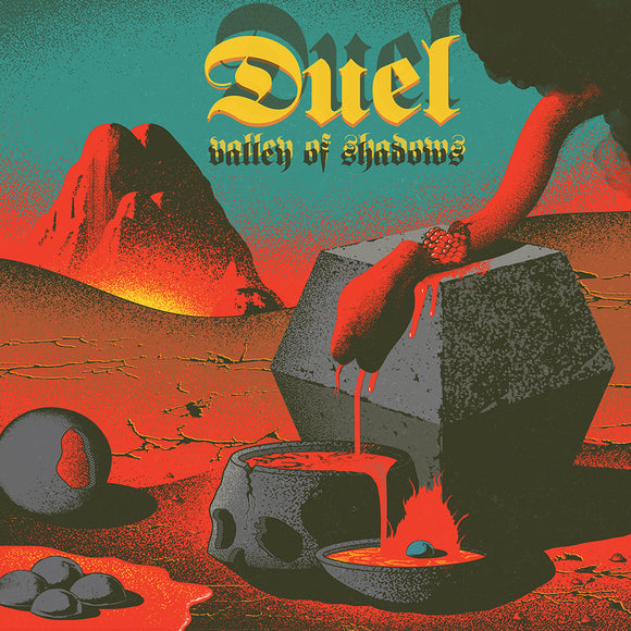 Duel - Valley Of Shadows (LP) (TRANSPARENT RED W/ BLACK/BLUE/WHITE/YELLOW SPLATTER)