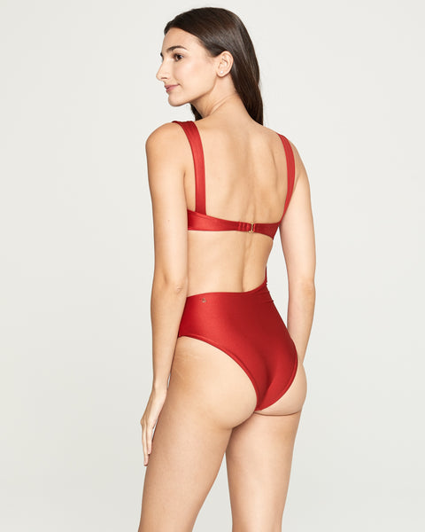 Red Bali One Piece