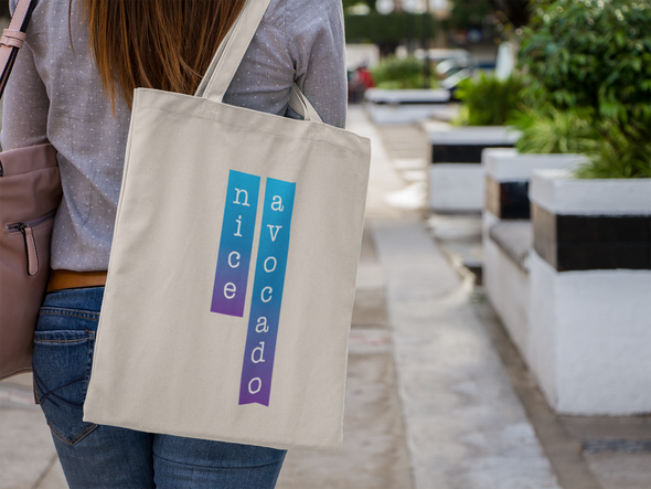 NEW! Hot Blue Avocado Farmer's Market Tote