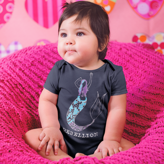Mermaid Rebellion Organic Cotton Onesie